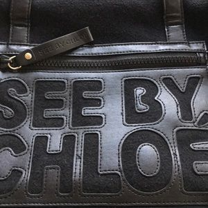 See By Chloe Bags - See By Chloe fabric tote/shoulder bag! Med size